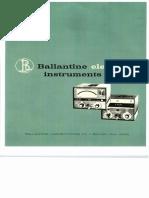 Ballatince Electronic Instruments (Catalog)