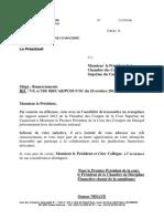 Courrier Cour Suprême Du Cameroun