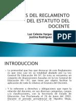Analisis Del Reglamento Del Estatuto Del Docente