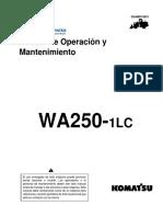 Komatsu Wa-250 Manual de Operacion y Mantenimiento Cargador Frontal