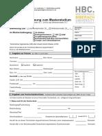 Antrag Auf Zulassung Zum Masterstudium Ab WS 15 Internetversion 21.09.2015