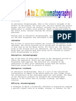 Glossary a to z Chromatography