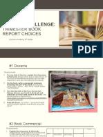 trimester book report options