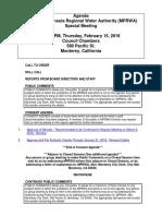 MPRWA Special Meeting Agenda Packet 02-15-18