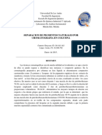 INFORME Separacion de Pigmentos Naturales Por Cromatografia Preparativa.