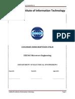 EEE362 Microwave Engineering Course Outline