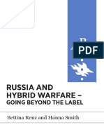 AP RUSSIA AND HYBRID WARFARE - GOING BEYOND THE LABEL