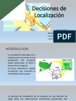 Decision de Localización