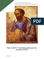 Rom. 1,26-27 Una Buena Noticia Para Personas GLTB