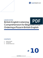 10 Ordering a Pizza in British English