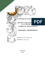 Mezzotinta Trabajo Sexto Ciclo- Victor Lima.