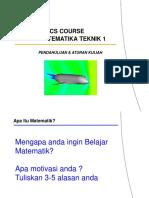 AE 2101 Matematika Teknik 1 Pendahluan Dan Aturan Kuliah