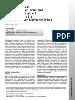 Oral and Maxillofacial Surgery Clinics of North America Volume 23 Issue 1 2011 [Doi 10.1016%2Fj.coms.2010.12.003] Luis G. Vega -- Reoperative Mandibular Trauma- Management of Posttraumatic Mandibular