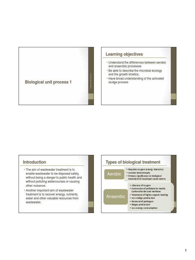 Biological Treatment 1   Anaerobic Digestion   Sewage Treatment
