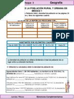 4to Grado - Geografía - Distribución de la población urbana y rural en México