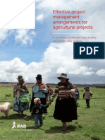 Effective Project Management Arrangements for Agricultural Projects