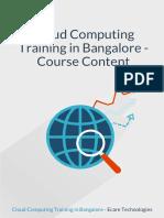 Cloud Computing Course Syllabus in Bangalore