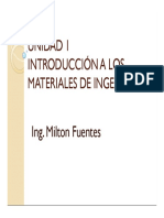 UNIDAD 1 Introduccion a La Ingenieria de MAteriales