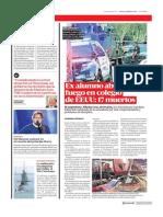 Diario La Cuarta de Santiago, Chile 15-02-2018 Ex Alumno Abrió Fuego en Colegio de EEUUꓽ 17 Muertos-.
