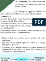 Lecture 4 Sensors