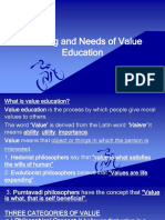Meaning and Needs of Value Education