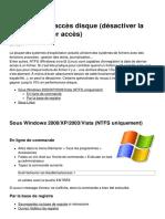 Accelerer Les Acces Disque Desactiver La Date de Dernier Acces 7066 Ksneit
