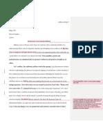 editing sample - personal response 1