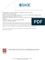 International Law and the Detention of Refugees and Asylum Seekers