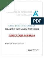 Dezvoltare durabila - Chestionar