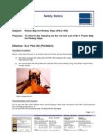 No.1-Safety Notice - PSA 150, Correct Use