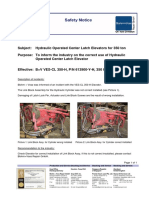 No.2-Safety Notice - Hydraulic Drill Pipe Elevator, Correct Use