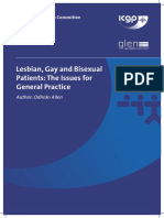 ICGP – Lesbian, Gay and Bisexual Patients the Issues for General Practice