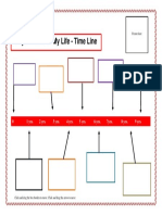 Printable Major Events Personal Time Line Template