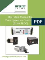 Door Operation Controller Drive Bldc