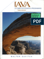Savitch, Walter- Java. an Introduction to Computer Science and Programming. Third Edition. Prentice Hall. Chaps 1-4