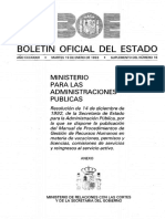 ANEXO Resolución MAP de 14 de Diciembre de 1992 Procedimientos Gestión RRHH