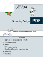 SCREENING DESIGNS