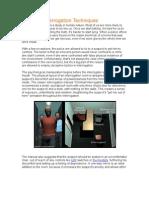 Common Interrogation Techniques