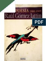 201. Raul Gómez Jattin - Poesía 1980 - 1989