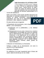 Hoja de Ruta Asamblea Extremadura