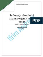 Influenta Alcoolului Asupra Organismului Uman (1)