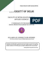 DELHI UNIVERSITY_B.sc. (Hons.) Instrumentation