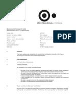 Microeconomic Theory 2 Syllabus