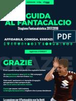 Guida Al Fantacalcio Fantamagazie 03092017
