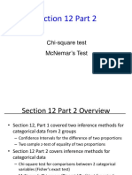 Chi Square and McNemar Test