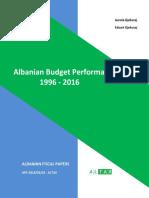Albanian Budget Performance, 1996 - 2016