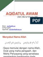 Akidatul Awam Makruf Khozi