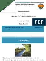 Hidraulica III - Canales. 25-08-2017