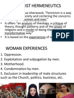 Feminist Hermeneutics