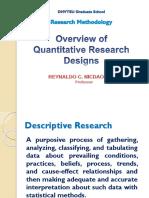 Session 4 Quantitative Research Designs